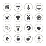 Web icon set, web buttons Stock Images