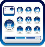 Web icon. Web Site & Internet Icon Design Royalty Free Stock Photography