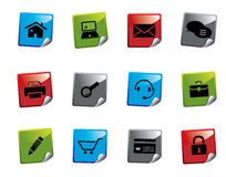 Web icon sticker series. Set of web icons from a series in my portfolio Royalty Free Stock Photography