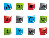 Web icon sticker series Royalty Free Stock Image