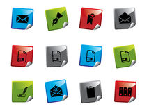 Web icon sticker series Stock Images