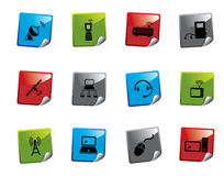 Web icon sticker series Royalty Free Stock Photography