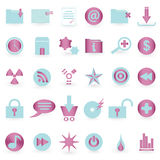 WEB icon and symbol  Vector set. An illustration of WEB icon and symbol  Vector set  - easily editable Stock Photography