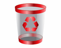 Web Icon of trash. Web and Internet Icon of trash for your website, internet, presentation Royalty Free Stock Photos