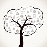 Web icon tree Stock Photography