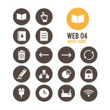 Web icon. Vector illustration. Web icon set. Vector illustration Stock Photo