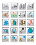 The web icon. vector image. 20 buttom Stock Images
