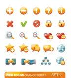 Web Icons – Orange series. Set 2 Stock Photos
