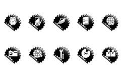 Web icons. Set of black buttons for web Stock Photo