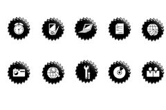 Web icons. Set of black web buttons for internet Royalty Free Stock Photos