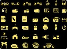 Web icons. Big set of black icons for web sites. Black buttons for internet Royalty Free Stock Images