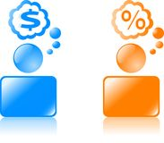 Web icons. 2 figures for internet. Web icons Royalty Free Stock Photography