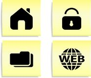 Web icons. Set of color icons for internet. Web stickers Stock Photo
