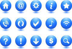 Web Icons. Blue Colored Menu Icon Set stock illustration