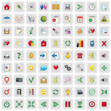 Web icons. Set of 81 web and multimedia icons