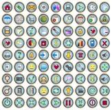 Web icons. Set of 81 web and multimedia icons Stock Photo