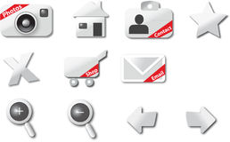 Web icons. A modern set of web icons Royalty Free Stock Image