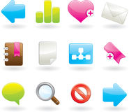 Web icons. Set. Glossy  illustration Stock Image