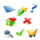 Web icons. Vector illustration of 3d web icons Royalty Free Stock Images
