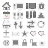Web icons Stock Photo