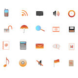 Web Icons. Image of various web icons Royalty Free Stock Photography