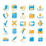 Web Icons. Icons for web in orange und blue style design