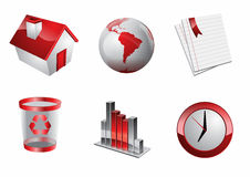 Web red Icons. Web and Internet Icons for your website, internet, presentation Stock Photo