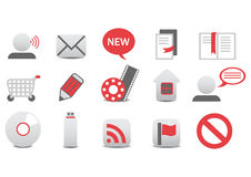 Web icons. Vector illustration of different Professional icons. You can use it for your website, application, or presentation Royalty Free Stock Images