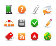 Web icons. Set of 12 web icons Stock Photo