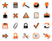Web icons 2. Set of web icons. Pictogram series. Part two Stock Photography