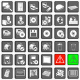 Web icons 2. Collection of different squared web icons, part two Royalty Free Stock Image