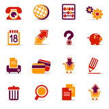 Web icons. Set of 16 web icons on white background Royalty Free Stock Photography