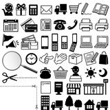 Web icons. Set of web icons.  illustration of flier Stock Photography