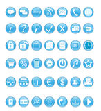 Web icons. Set of icons for the Web Stock Photography