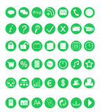 Web icons. Set of icons for the Web in green color Royalty Free Stock Images