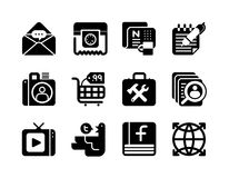 Web Icons. A series of 12 professional unique Icons for your website, application or presentation. Clean, simple and communicative Stock Photography