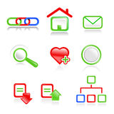 Web icons. Web vector navigation icons.Useful for web projects Stock Image