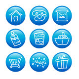 Web icons. A vector illustration of glossy web icons Royalty Free Stock Photography
