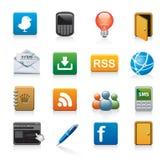 Web icons. Illustration of web icons isolated on white Stock Images