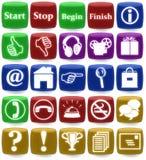 Web icons. Illustration of web icons isolated on white Stock Photos