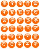 Web icons. This  An illustration of  web icons and logos Stock Photography