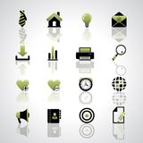 Web icons. Vector web icons on gray background Royalty Free Stock Photos