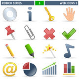 Web Icons [3] - Robico Series. Collection of 16 colorful website and internet icons, isolated on white background. Robico Series: check my portfolio for the stock illustration