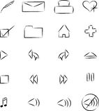 Web Icons. Black and white sketchy web icons Stock Photo
