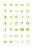 Web icons. Set of web icons. Vector illustration. Look a new Web Icons Set 2 in the same style in my gallery