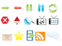 Web icons. Vectors of colorful web icons vector illustration