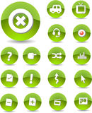 Web Icons. 04. Crystallized green color Stock Images