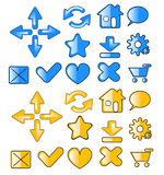 Web icons. Color web icons vector illustration Royalty Free Stock Images