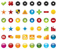 Web icons. 48 vector illustrations. Element for design Stock Photo