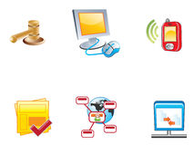 Web Icons. Icons easy to resize or change color Royalty Free Stock Photo